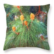 Spring Pine Throw Pillow