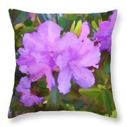 Spring Pink Azalea Throw Pillow
