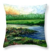 Spring Pond Throw Pillow