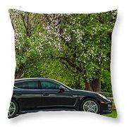Spring Porsche Throw Pillow