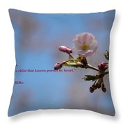 Spring Quote Throw Pillow