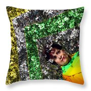 Spring Rainbow And Flowers Throw Pillow