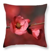 Spring Richness - Flowering Quince Throw Pillow