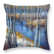 Spring River Thaw Throw Pillow