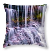 Spring Runoff At The Falls Throw Pillow