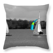 Spring Sailing Throw Pillow by Jeremy Hayden