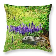 Spring Scene Throw Pillow