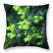 Spring Shoots Throw Pillow