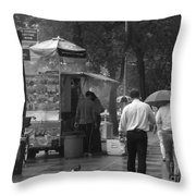 Spring Shower - Rainy Day In New York Throw Pillow