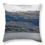 Spring Storm Over Loch Lomond Throw Pillow