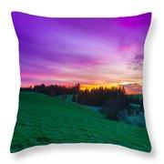 Spring Sunrise Throw Pillow