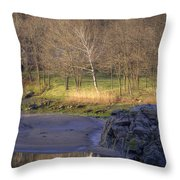 Spring Sunrise At Ring Bolt Rock Throw Pillow