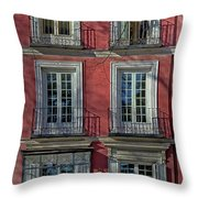 Spring Sunshine In Madrid Throw Pillow