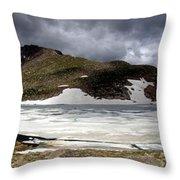 Mountain Lake Spring Thaw Throw Pillow