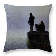 Spring Time Fishing Throw Pillow