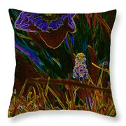 Spring Time In Lillyput Throw Pillow