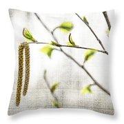 Spring Tree Branch Throw Pillow