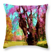 Spring Tree V Throw Pillow