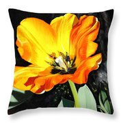 Spring Tulip Throw Pillow