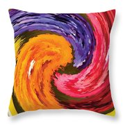 Spring Waves Throw Pillow