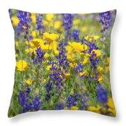 Spring Wildflower Bouquet  Throw Pillow
