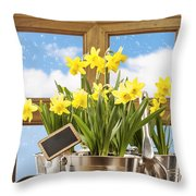 Spring Window Throw Pillow by Amanda And Christopher Elwell