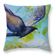 Spring Wings Throw Pillow