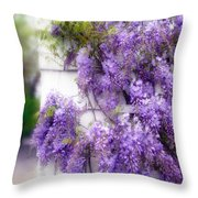 Spring Wisteria Throw Pillow