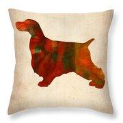 Springer Spaniel Poster Throw Pillow by Naxart Studio