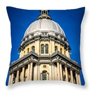 Springfield Illinois State Capitol Dome Throw Pillow