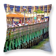 Springmaid Beach Pier 2006 Throw Pillow