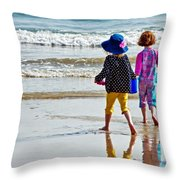 Springtime At The Seaside Throw Pillow