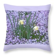 Springtime Beauties Throw Pillow