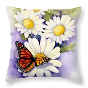 Springtime Daisies  Throw Pillow