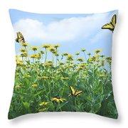 Springtime Throw Pillow by Diane Diederich