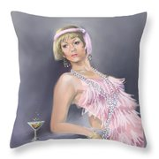 Springtime Flapper Throw Pillow