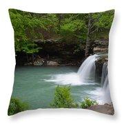 Springtime Flows Throw Pillow