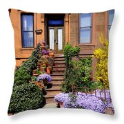 Springtime In Brooklyn Throw Pillow