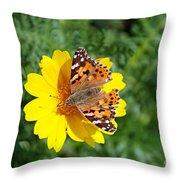 Springtime In Hydra Island Throw Pillow