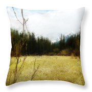 Springtime In The Mountains Throw Pillow