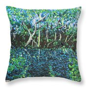 Springtime In Wekiva Throw Pillow