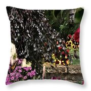 Springtime In Zebulon Center Throw Pillow