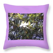 Springtime Magnolia  Throw Pillow