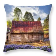 Springtime On The Farm Throw Pillow