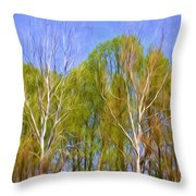Springtime Trees Throw Pillow