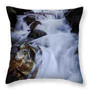 Springtime Waterfall Throw Pillow