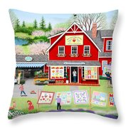 Springtime Wishes Throw Pillow