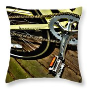 Sprocket And Chain Throw Pillow