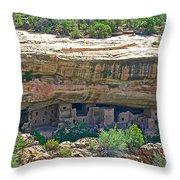 Spruce Tree House Pueblo On Chapin Mesa In Mesa Verde National Park-colorado Throw Pillow