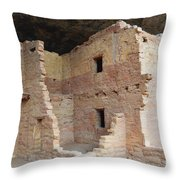 Spruce Tree House Structure Throw Pillow